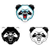 Coloring book Panda Head cartoon character — Stock Vector