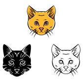 Coloring book Cat Head cartoon character — Stock Vector