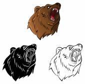 Malbuch Bear Cartoon-Figur — Stockvektor