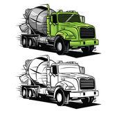 Coloring book big truck cartoon character — Stock Vector