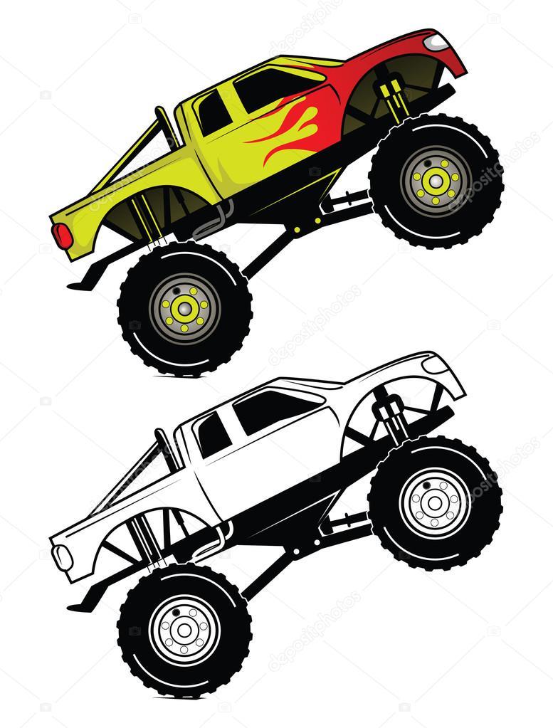Superior Dessin Anime En Direct #12: Depositphotos_67306263-Coloring-book-truck-race-cartoon.jpg