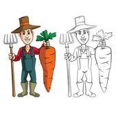 Gardener cartoon character — Stock Vector