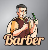 Barber — Stock Vector