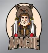Apache-Maskottchen — Stockvektor