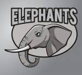 Elephants mascot — Stock Vector