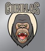 Gorilla mascot — Stock Vector