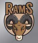 Ram mascot — Vetor de Stock