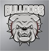 Bulldogs mascot — Stock Vector