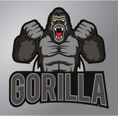 Gorilla mascotte — Stockvector