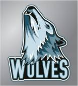 Wolves mascot — Stock Vector