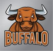 Mascot Buffalo — Stock Vector