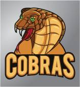 Cobras Mascot — Stock Vector