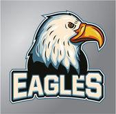 Eagles mascot — Stock Vector