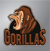 Gorillas Mascot — Stock Vector