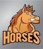 Mustang Mascot — Stock Vector