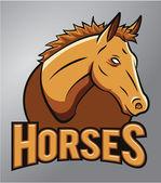Horses Mascot — Stock Vector