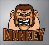 Monkey mascot — Stock Vector