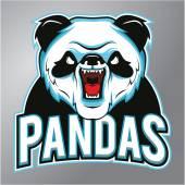 Pandas mascot — Stock Vector