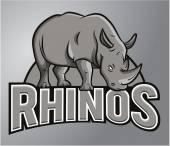 Rhino Mascot — Stock Vector