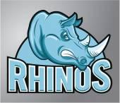 Mascot rhino — Stock Vector