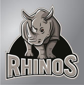 Rhinoceros Mascot — Stock Vector