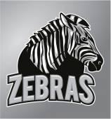 Zebras mascot — Stock Vector