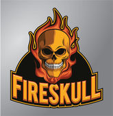 Fire skull — Stock Vector