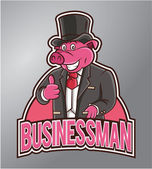 Businessman pig — Stock Vector