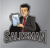 Salesman — Stock Vector
