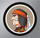 Apache Circle sticker — Stock Vector
