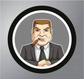 Big boss Circle sticker — Stock Vector