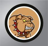 Bulldog Circle sticker — Stock Vector