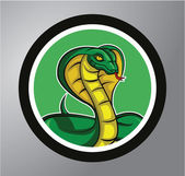 Cobra sticker banner — Stockvector