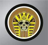 Sphinx cirkel sticker — Stockvector