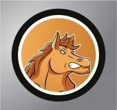 Mustang Circle sticker — Stock Vector