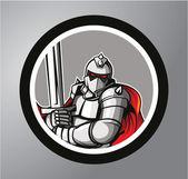 Knights Circle sticker — Stock Vector