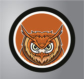 Owls Circle sticker — Stock Vector