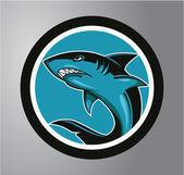 Sharks Circle sticker — Stock Vector
