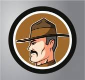 Şerif daire etiket — Stok Vektör