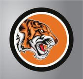 Tigers Circle sticker — Stock Vector
