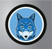 Wolf Circle sticker — Stock Vector