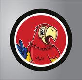 Parrots Circle sticker — Stock Vector