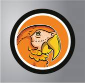 Parrot Circle sticker — Stock Vector