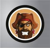 Pirates Circle sticker — Stock Vector