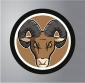 Ram Circle sticker — Vetor de Stock