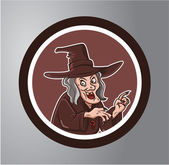 Witches Circle sticker — Stock Vector