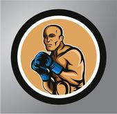 Boxers Circle sticker — Stock Vector