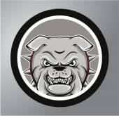 Bulldogs Circle sticker — Stock Vector