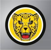 Cheetah Circle sticker — Stock Vector