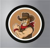 Cowboys Circle sticker — Stock Vector